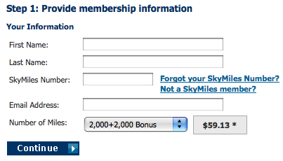 Buy Skymiles